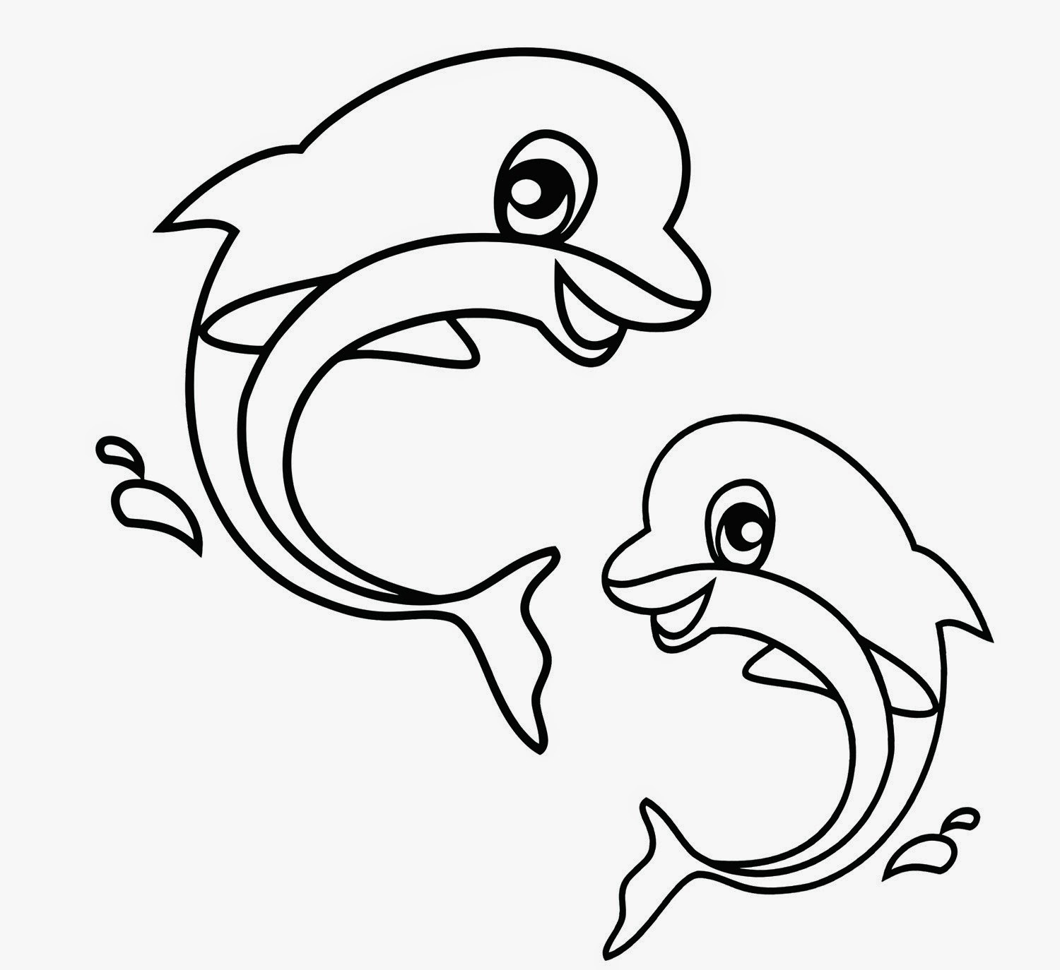 Twin Dolphin Coloring Pages for kids