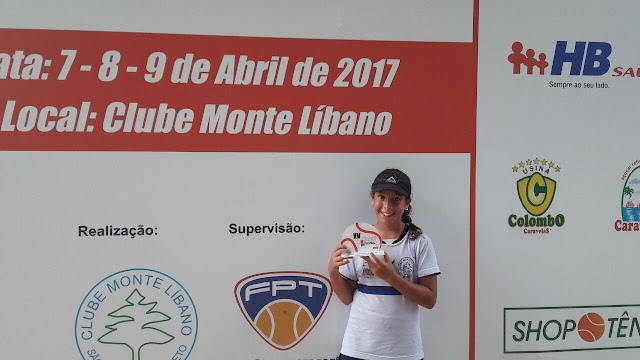 Tenista cajobiense, Rayssa Vitória, se torna vice-campeã paulista