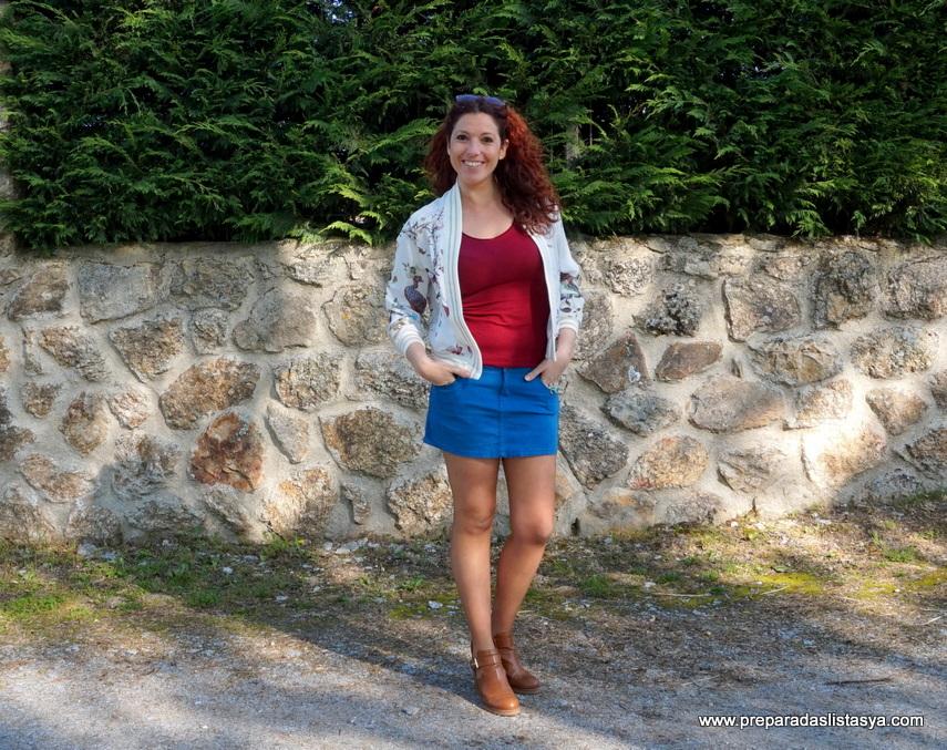 minifalda azul