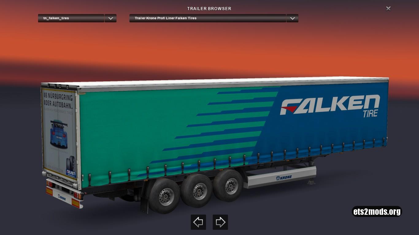 Krone Falken Tires Trailer
