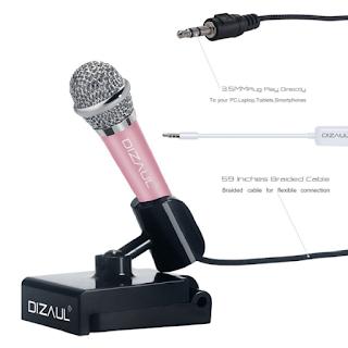mini microphone aussi grand qu'un stylo