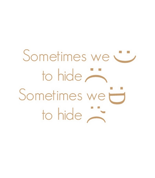 Sometimes We Smile To Hide Sadness Nineimages
