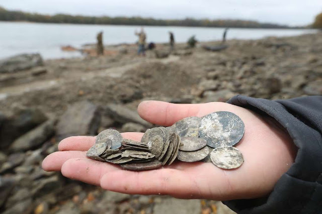 Dry Danube reveals hidden treasure in Hungary