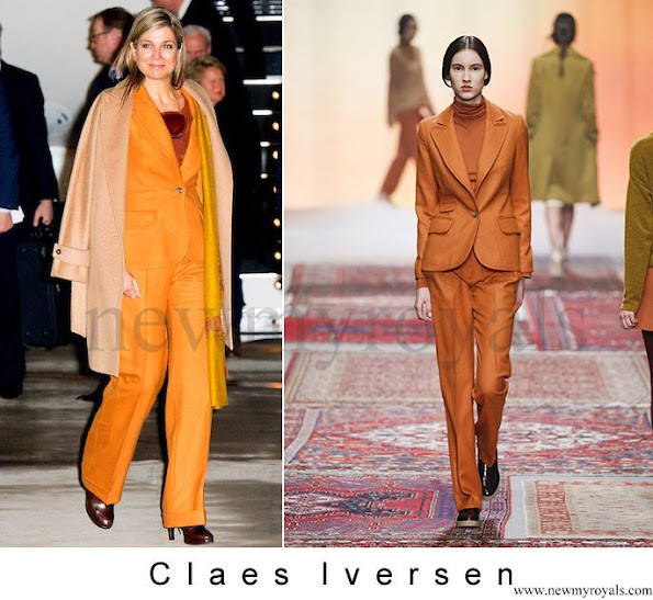 Queen Maxima wore CLAES IVERSEN Pant Suit from AW2015 Collection