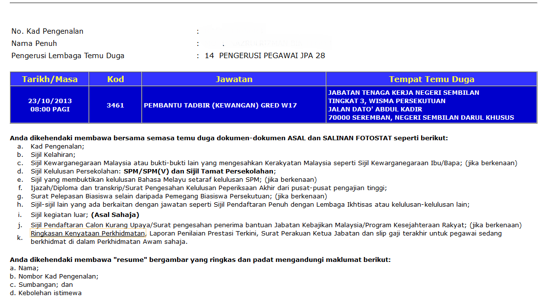 H Tag Ko Rasa Interview Pembantu Tadbir Kewangan Gred W17