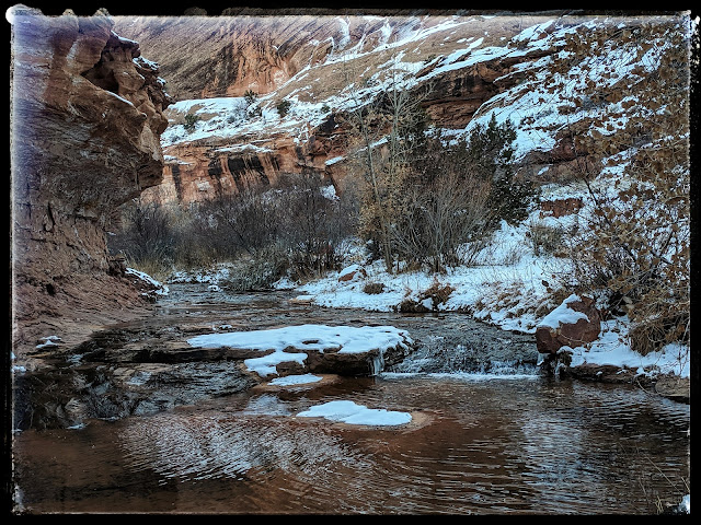 Grandstaff Canyon Trail Along the Stream Moab Utah Previously known as Negro Bill