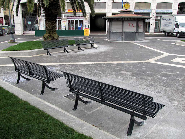 New benches, Town Hall square, Livorno