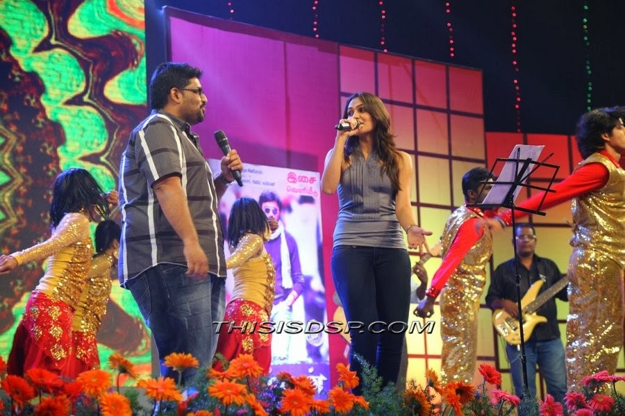 MLR Karthikeyan and Andrea at Bramman Audio launch