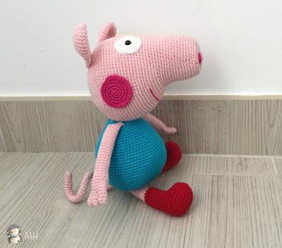 George Pig amigurumi