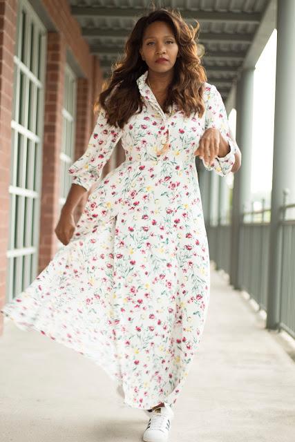 Floral Shirt Dress - Mccall 7380