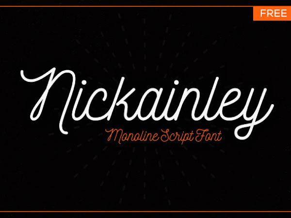 Nickainley Monoline Script Font Free Download