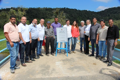 Prefeitura de Juquiá inaugura ponte no bairro Iporanga