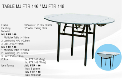 table mj ftr 146-148 folding table