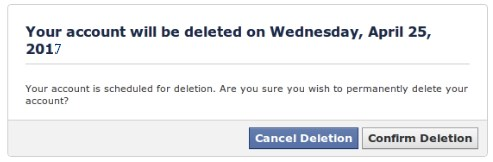 how do i delete my facebook account not just deactivate it