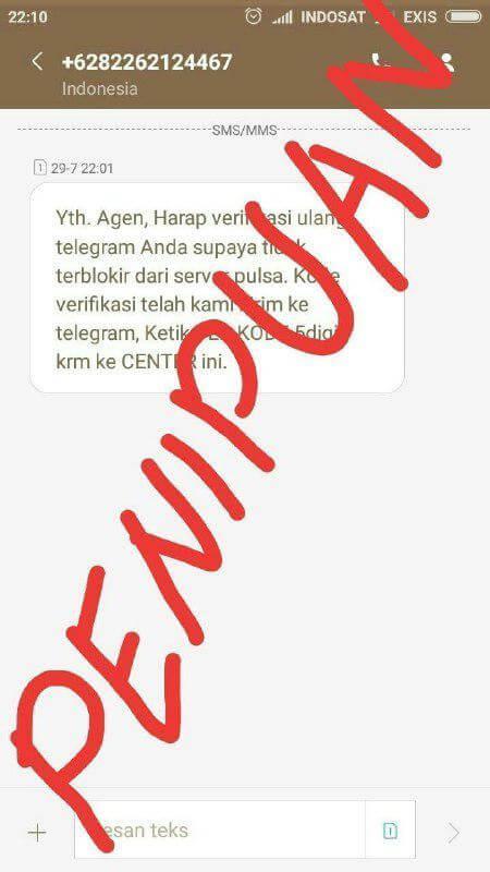 Hati-Hati Penipuan Via SMS/Panggilan Meminta Kode Login