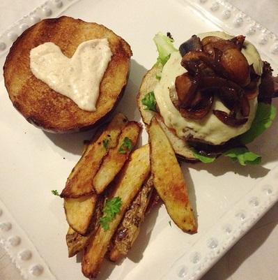 sevgiliye hamburger hazırlamak