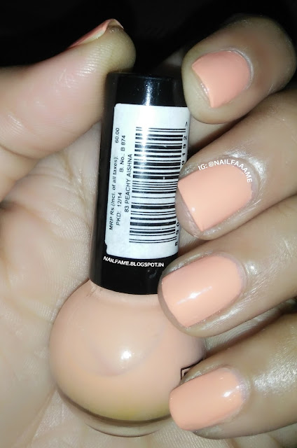 ELLE 18 PEACHY AISHNA SWATCH REVIEW AND NAILART