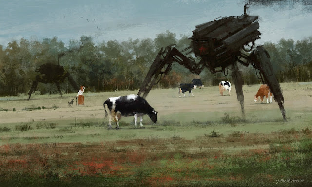 Amazing oil paintings of 1920 soviet mechs by Jakub Rozalski (40 Pics)