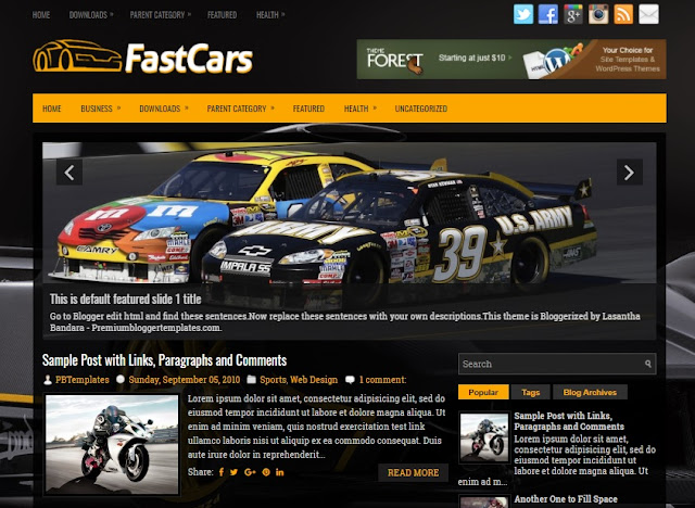 FastCars Blogger Theme
