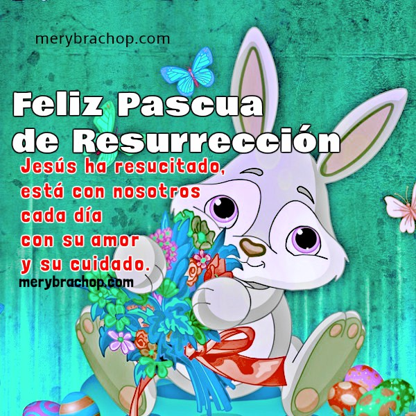 Feliz Pascua De Resurrección Tarjeta Cristiana Con Mensaje Entre
