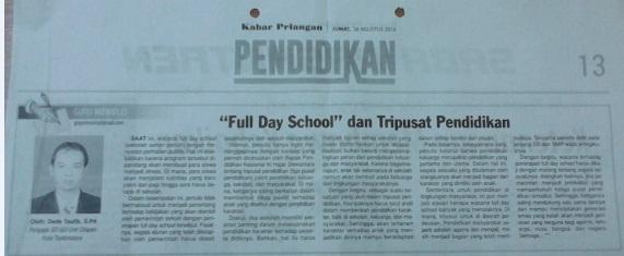 Guru Menulis : Full Day School dan Tripusat Pendidikan