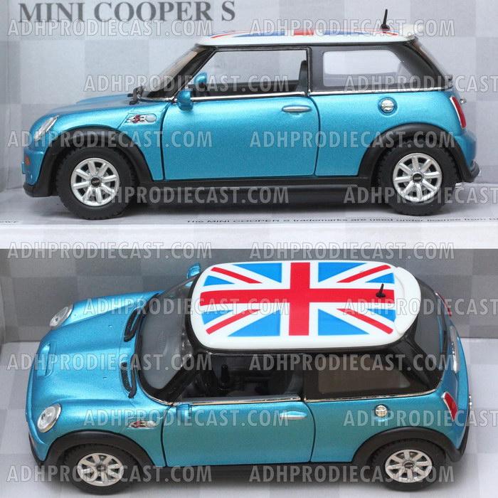 Miniatur Mobil Mini Cooper S England Flag