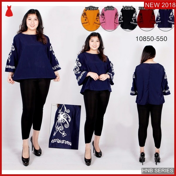 HNB247 Model Reta Layer Blouse Ukuran Besar Jumbo BMG Shop