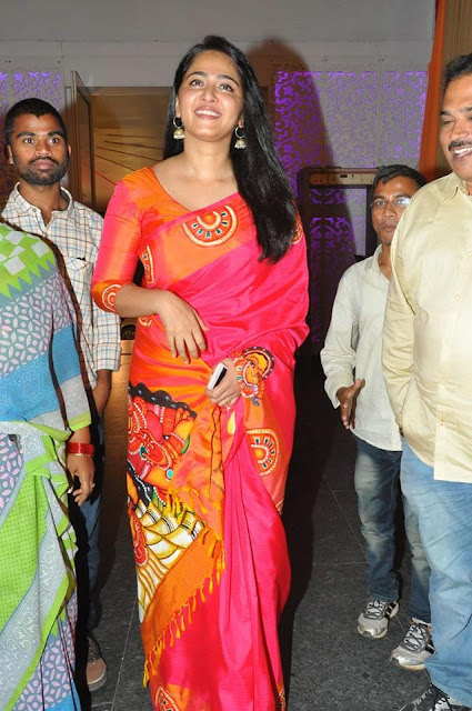 Anushka Shetty in Pink saree @ Shyam Prasad Reddy's daughter Wedding Function