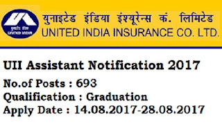 United India Insurance 693 Jobs Notification 2017