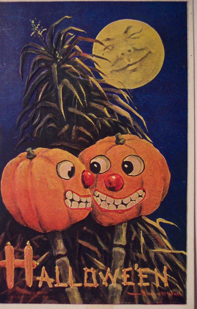Creepy Vintage Halloween Cards Vintage Everyday