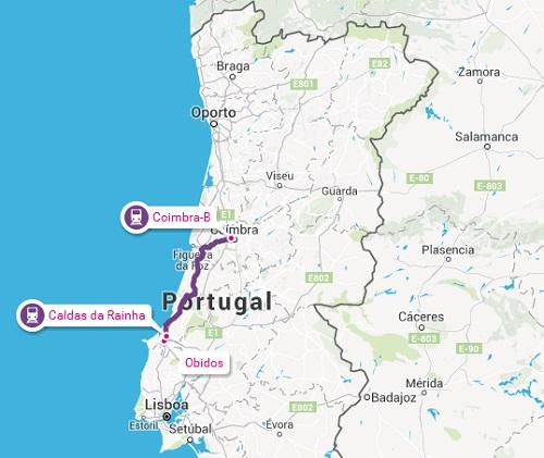 De Coimbra a Obidos