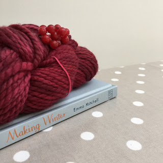 Chunky yarn and Making Winter book bought from Loop Yarn Shop in London
