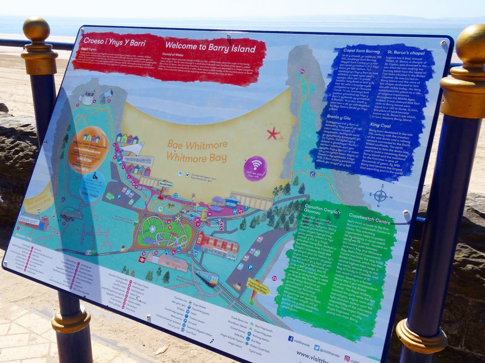 Barry Island Beach View Point Map