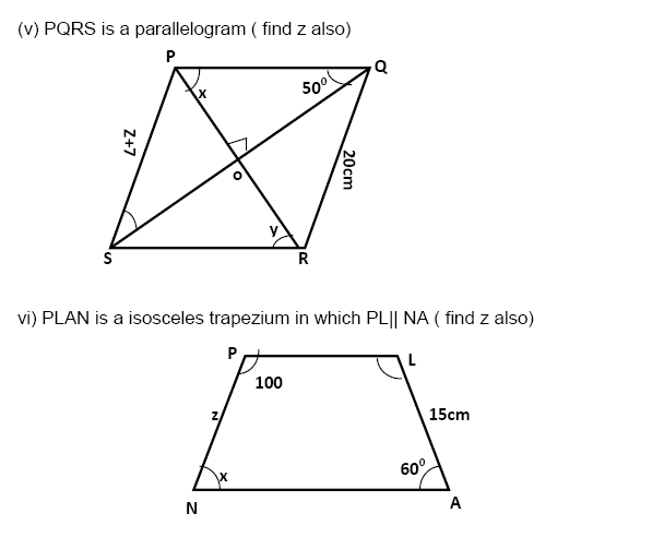 Understanding Quadrilaterals Practice Paper Important Questions,ssc,scc,ctet ,maths for competition