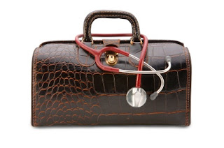 A Gladstone Bag with Stethoscope