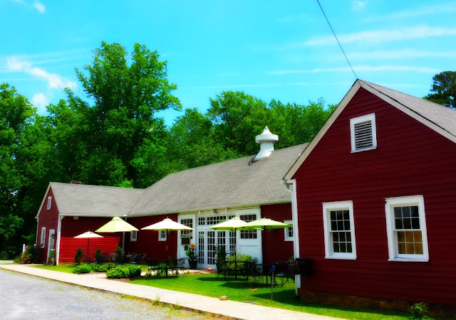 The Tasting Room for Grassy Creek Vineyards and Winery is an old horse stable on historic Klondike Farm.