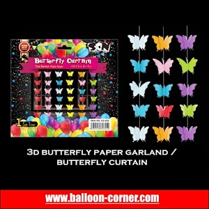3D Butterfly Paper Garland / Butterfly Curtain