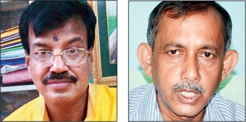 (From left) Rabindranath Ghosh, Gautam Deb.