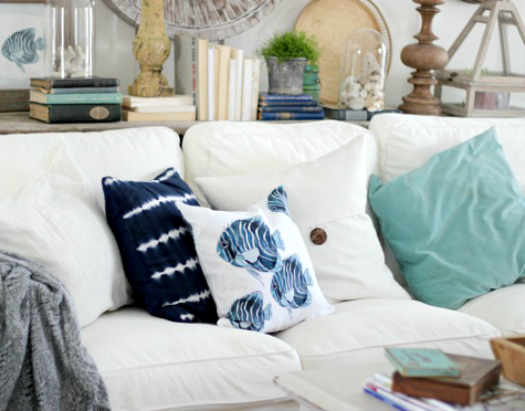 Blue and White Summer House Decor