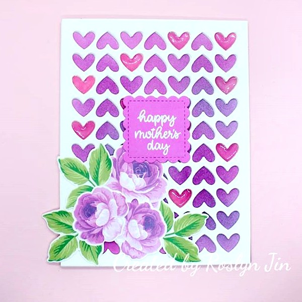 Sunny Studio Stamps: Everything's Rosy Mother's Day Customer Card by Roslyn Jin