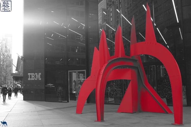 Le Chameau Bleu - New York Manhattan Oeuvre de Calder - Sculpture Blog Voyage New York City