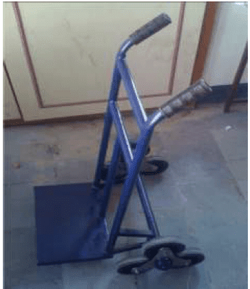 Design and fabrication of stair climber trolley