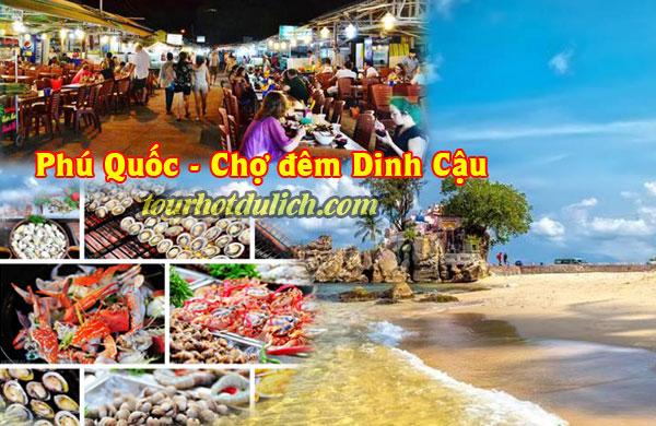 món đặc sản tươi sống tại chợ Đêm Dinh Cậu Phú Quốc