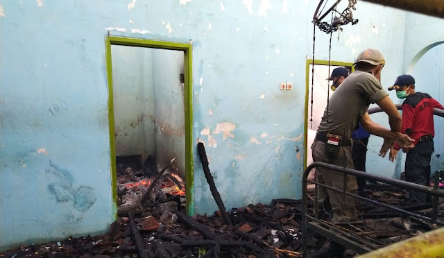 Kondisi rumah korban setelah terbakar