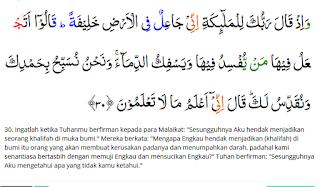 Isi Kandngan Surah Al-Baqarah ayat 30