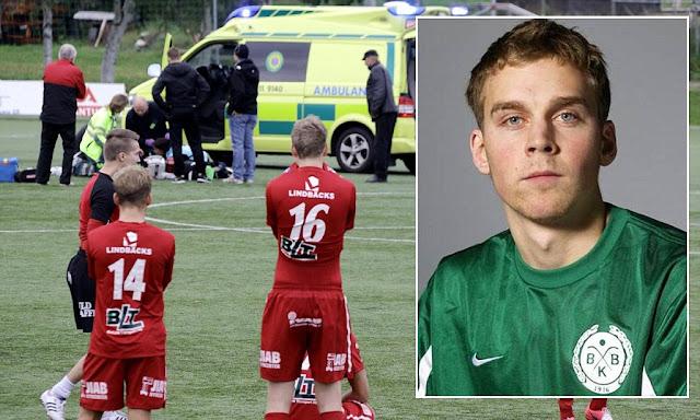 Victor Brannstrom pemain sepak bola yang tewas di lapangan usai mencetak gol