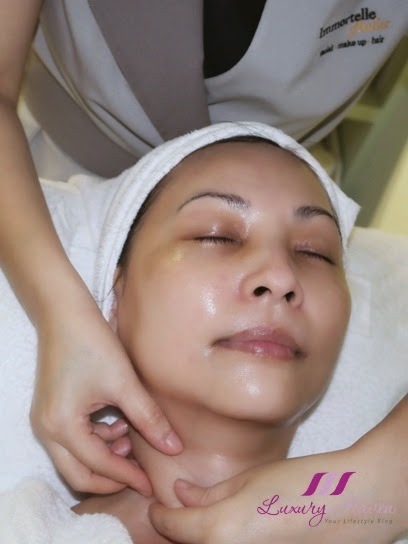 maria galland luxe collagen facial immortelle atelier review
