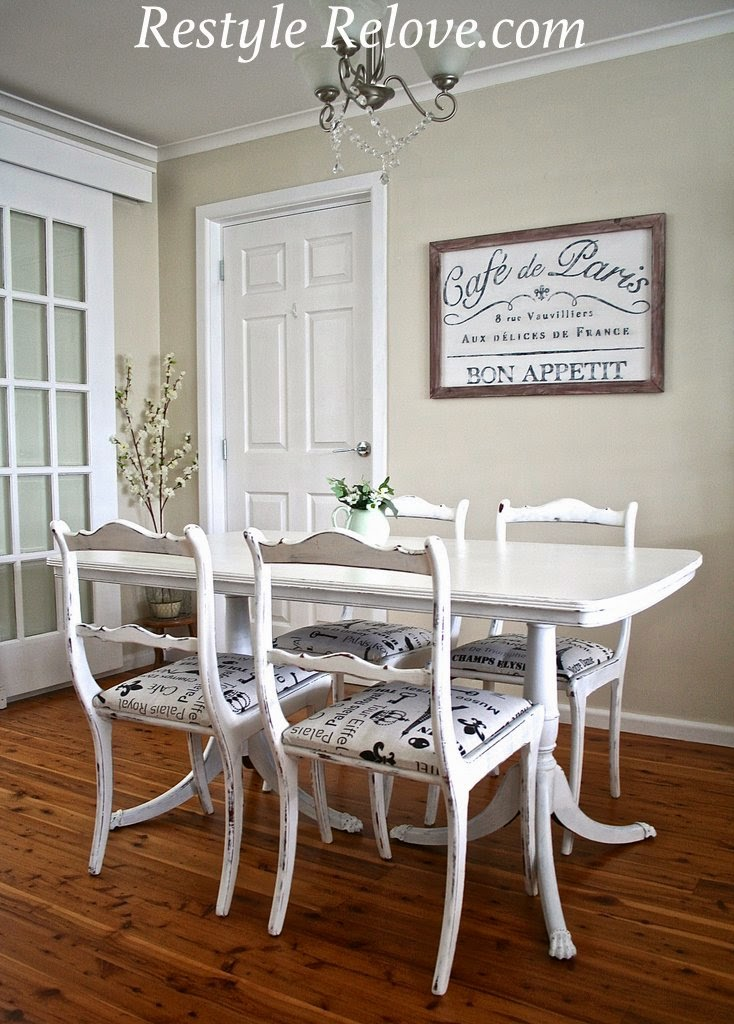 Antique Dining Room Set 5 P Furniture Renaissance Xvii Th: Antique Dining Table And Chairs Restyle