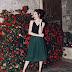 Look de Natal: Saia midi verde + blusinha com brilho