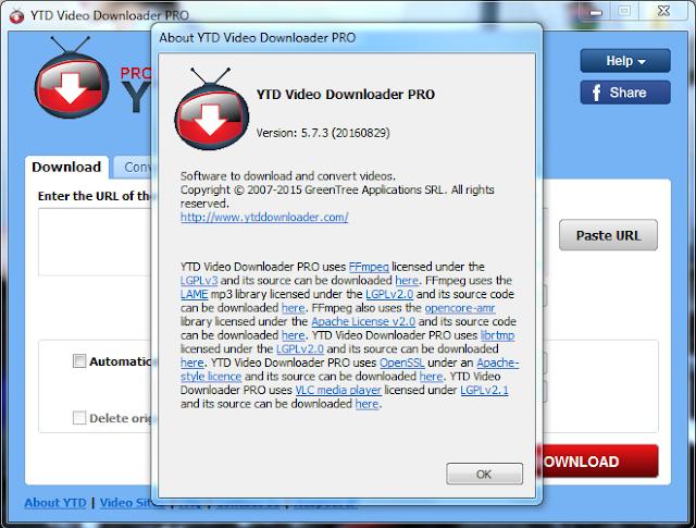 YTD Video Downloader PRO v5.7.3 (20160829) Final Crack 2016